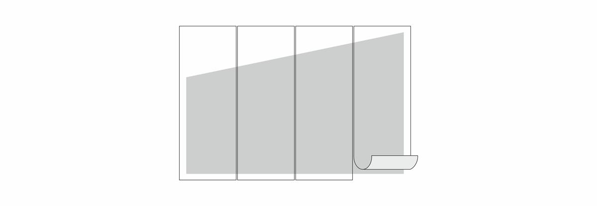 pomiar ściany ze skosem do tapetowania