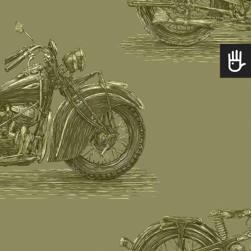 tapeta stare motocykle oliwka detal