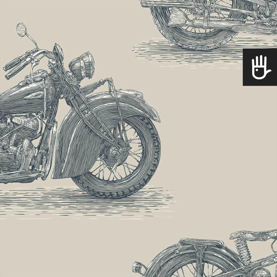 tapeta stare motocykle stal detal