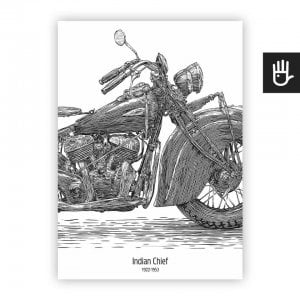 plakat poster indian chief bialy