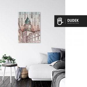 Lublin canvas obraz na plotnie stare miasto wieza trynitarska