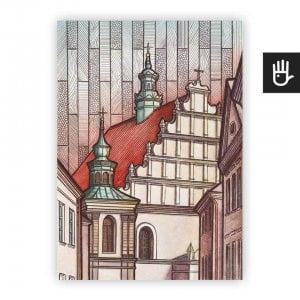 Lublin plakat poster klasztor dominikanow