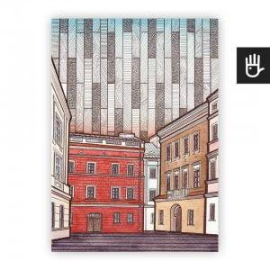Lublin plakat poster stare miasto
