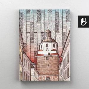Lublin canvas obraz na plotnie stare miasto brama krakowska