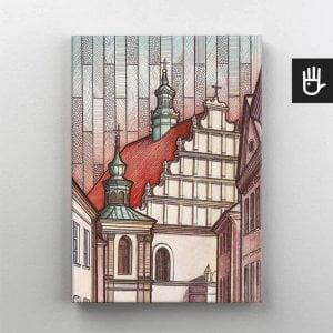 Lublin canvas obraz na plotnie stare miasto klasztor dominikanow