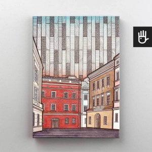 Lublin canvas obraz na plotnie stare miasto kamienica lubomelskich
