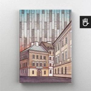 Lublin canvas obraz na plotnie stare miasto kamienica rynek 9