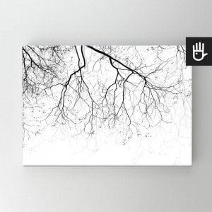 Obraz na płótnie bawełnianym z gałęziami na wietrze
