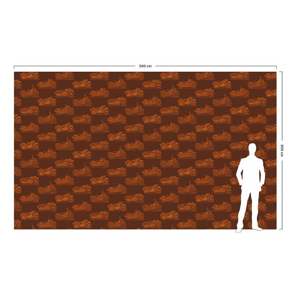 Wizualizacja skali tapety w porównaniu do postaci dorosłego człowieka