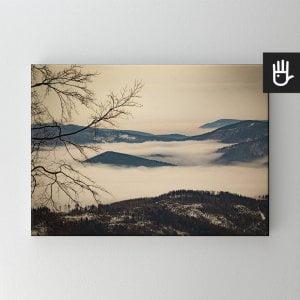 Obraz na płótnie Beskidy we mgle