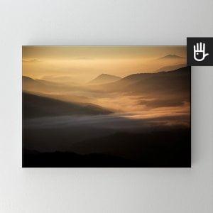 Obraz na płótnie Przełęcz w słońcu