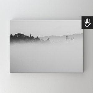 Obraz na płótnie Zamek we mgle