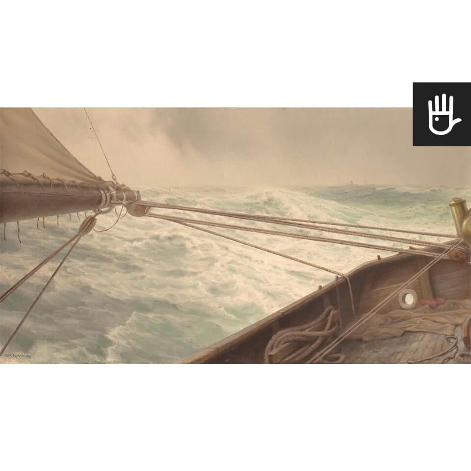 Widok fototapety Na wzburzonym morzu w stylu marynistycznym