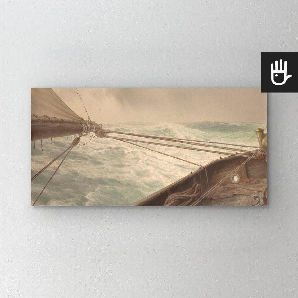 obraz Na wzburzonym morzu drukowany na płótnie