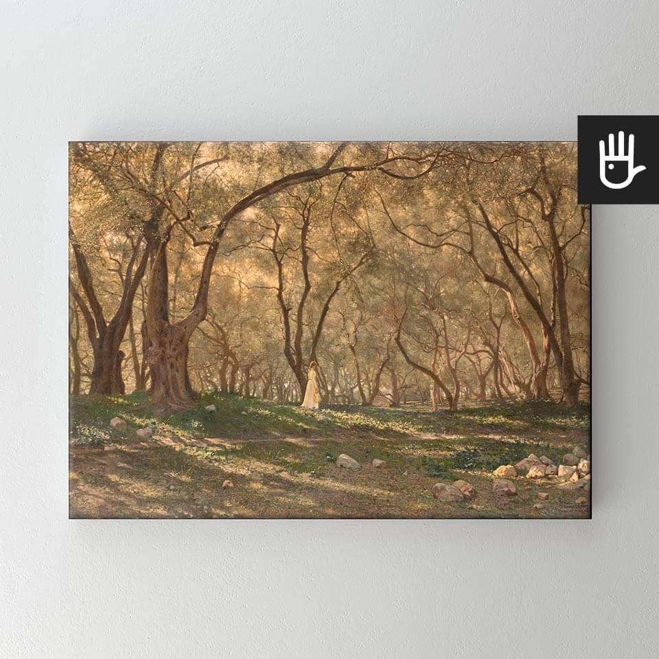 Obraz na płótnie Pod oliwnymi drzewami - reprodukcja
